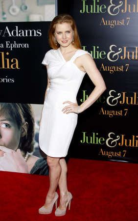 adams: Amy Adams at the Los Angeles premiere of Julie and Julia held at the Mann Village Theatre in Westwood, USA on July 26, 2009.