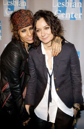 linda: BEVERLY HILLS, CA - MAY 19, 2012: Linda Perry and Sara Gilbert at the L.A. Gay and Lesbian Centers An Evening With Women held at the Beverly Hilton Hotel in Beverly Hills, USA on May 19, 2012.