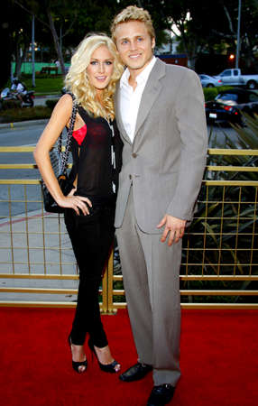 Heidi Montag and Spencer Pratt at the LG Electronics (LG) Launch of the Scarlet HDTV Series held at the Pacific Design Center in West Hollywood, USA on April 28, 2008.