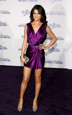 gomez: Selena Gomez at the Los Angeles premiere of Justin Bieber: Never Say Never held at the Nokia Theater L.A. Live in Los Angeles on February 8, 2011.