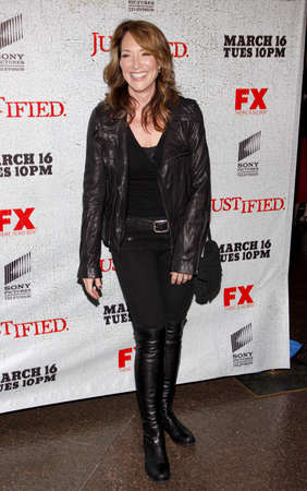 justified: HOLLYWOOD, CA - MARCH 08, 2010: Katey Sagal at the premiere screening of FXs Justified held at the DGA Theater in Hollywood, USA on March 8, 2010. Editorial