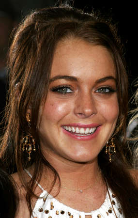 Lindsay Lohan at the Los Angeles Premiere of Just My Luck held at the National Theatre in Westwood, USA on May 9, 2006.