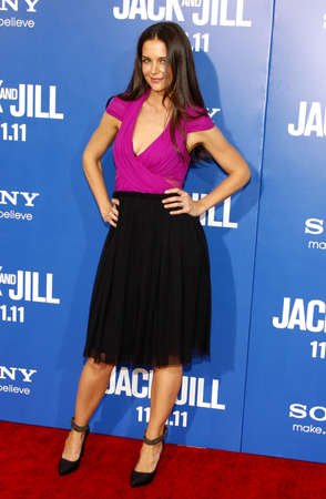 jill: Katie Holmes at the Los Angeles premiere of Jack And Jill held at the Regency Village Theater in Westwood on November 6, 2011.