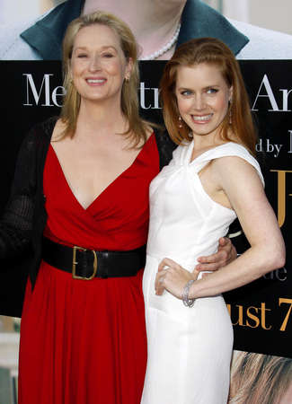 adams: Meryl Streep and Amy Adams at the Los Angeles premiere of 'Julie and Julia' held at the Mann Village Theatre in Westwood, USA on July 26, 2009.