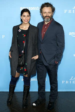 sheen: Sarah Silverman and Michael Sheen at the Los Angeles premiere of 'Love And Friendship' held at the DGA Theater in Hollywood, USA on May 3, 2016.