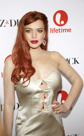 dick: Lindsay Lohan at the Los Angeles premiere of Liz & Dick held at the Beverly Hills Hotel in Beverly Hills on November 20, 2012
