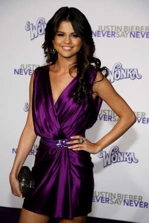 Selena Gomez at the Los Angeles premiere of Justin Bieber: Never Say Never held at the Nokia Theater L.A. Live in Los Angeles on February 8, 2011.