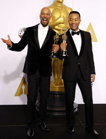 Common and John Legend at the 87th Annual Academy Awards - Press Room held at the Loews Hollywood Hotel in Hollywood, USA on February 22, 2015.