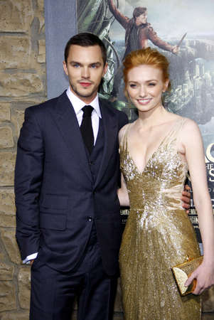 slayer: Nicholas Hoult and Eleanor Tomlinson at the Los Angeles premiere of Jack The Giant Slayer held at the TCL Chinese Theater in Hollywood, USA on February 26, 2013.