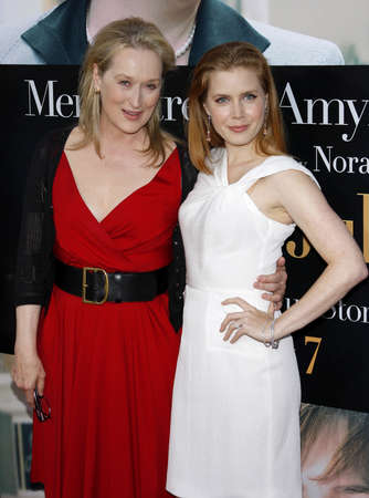 adams: Meryl Streep and Amy Adams at the Los Angeles premiere of Julie and Julia held at the Mann Village Theatre in Westwood, USA on July 26, 2009. Editorial