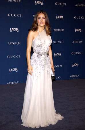 honoring: Salma Hayek at the LACMA 2013 Art + Film Gala Honoring Martin Scorsese And David Hockney held at the LACMA in Los Angeles, USA on November 2, 2013.