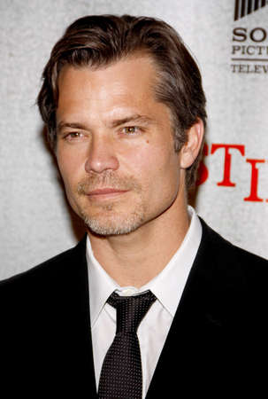 justified: HOLLYWOOD, CA - MARCH 08, 2010: Timothy Olyphant at the premiere screening of FXs Justified held at the DGA Theater in Hollywood, USA on March 8, 2010. Editorial