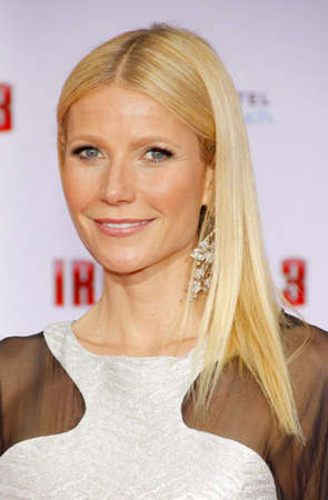 Gwyneth Paltrow at the Los Angeles premiere of Iron Man 3 held at the El Capitan Theater in Los Angeles, USA on April 20, 2013.