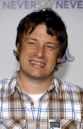 Jamie Oliver at the Los Angeles premiere of 'Justin Bieber: Never Say Never' held at the Nokia Theater L.A. Live in Los Angeles on February 8, 2011.