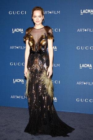 honoring: Dakota Johnson at the LACMA 2013 Art + Film Gala Honoring Martin Scorsese And David Hockney held at the LACMA in Los Angeles, USA on November 2, 2013.