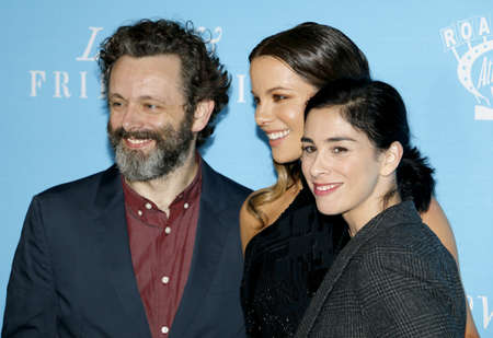 sheen: Kate Beckinsale, Sarah Silverman and Michael Sheen at the Los Angeles premiere of 'Love And Friendship' held at the DGA Theater in Hollywood, USA on May 3, 2016.