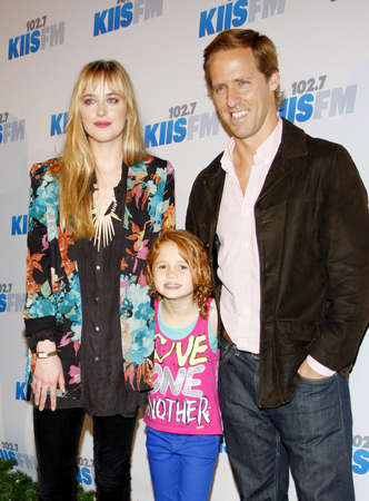 nat: Nat Faxon and Dakota Johnson at the KIIS FMs Jingle Ball 2012 held at the Nokia Theater LA Live in Los Angeles on December 1, 2012.