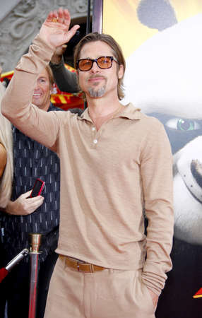 brad pitt: Brad Pitt at the Los Angeles premiere of 'Kung Fu Panda 2' held at the Grauman's Chinese Theater in Hollywood, USA on May 22, 2011. Editorial