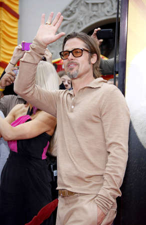 brad pitt: Brad Pitt at the Los Angeles premiere of Kung Fu Panda 2 held at the Graumans Chinese Theater in Hollywood, USA on May 22, 2011.