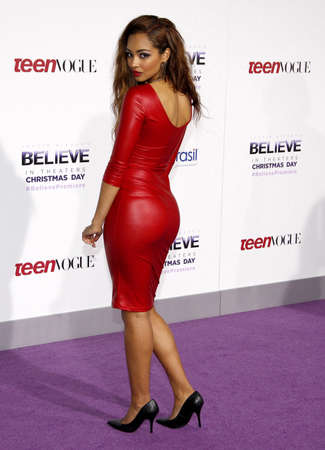 Jessica Jarrell at the World premiere of Justin Biebers Believe held at the Regal Cinemas L.A. Live in Los Angeles, USA on December 18, 2013.