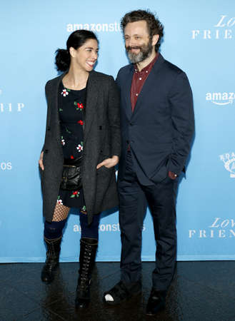 sheen: Sarah Silverman and Michael Sheen at the Los Angeles premiere of Love And Friendship held at the DGA Theater in Hollywood, USA on May 3, 2016. Editorial
