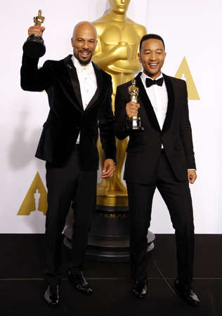 common room: Common and John Legend at the 87th Annual Academy Awards - Press Room held at the Loews Hollywood Hotel in Hollywood, USA on February 22, 2015.