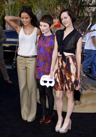 Jamie Chung, Emily Browning and Jena Malone at the Los Angeles premiere of Legends of the Guardians: The Owls of GaHoole held at the Graumans Chinese Theater in Hollywood, USA on September 19, 2010.