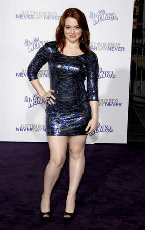 Jennifer Stone at the Los Angeles premiere of 'Justin Bieber: Never Say Never' held at the Nokia Theatre L.A. Live in Los Angeles, USA on February 8, 2011. Éditoriale
