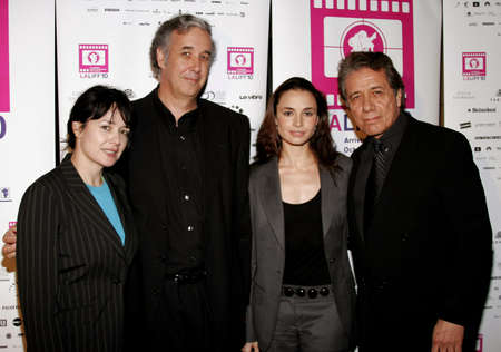 affliction: Marlene Dermer, director Ricardo Preve, Mia Maestro and Edward James Olmos at the LALIFF Screening of Chagas: A Hidden Affliction held at the Egyptian Arena Theatre in Hollywood, USA on October 7, 2006.