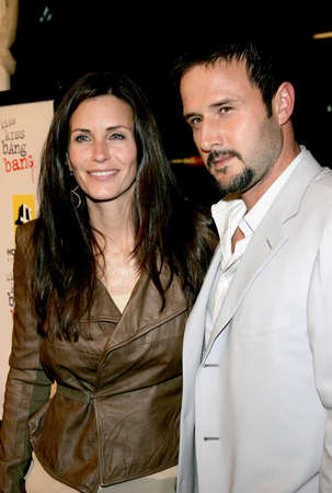 Courteney Cox and David Arquette at the Los Angeles premiere of Kiss Kiss, Bang Bang held at the Graumans Chinese Theater in Hollywood, USA on October 18, 2005.