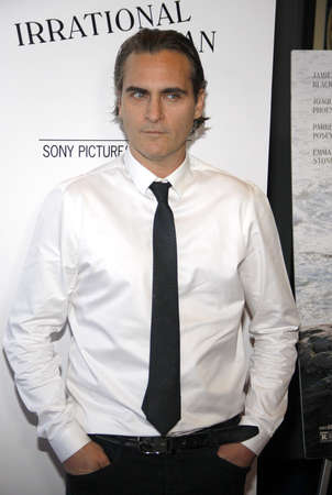joaquin: Joaquin Phoenix at the Los Angeles premiere of Irrational Man held at the WGA Theatre in Beverly Hills, USA on July 9, 2015. Editorial