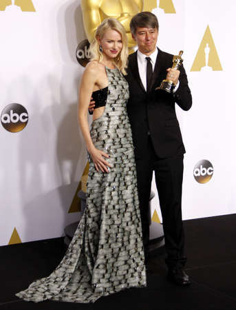 watts: Naomi Watts and Tom Cross at the 87th Annual Academy Awards - Press Room held at the Loews Hollywood Hotel in Hollywood on February 22, 2015. Editorial