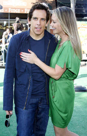 christine: WESTWOOD, CA - OCTOBER 26, 2008: Christine Taylor  and Ben Stiller at the Los Angeles premiere of Madagascar: Escape 2 Africa held at the Mann Village Theater in Westwood, USA on October 26, 2008.