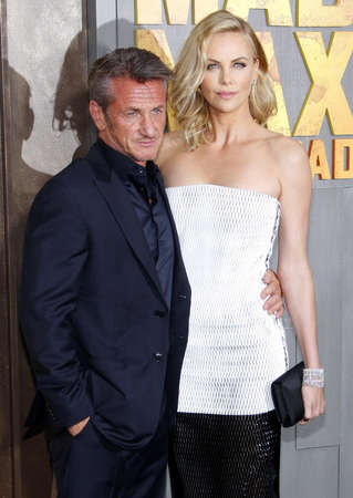 sean: Charlize Theron and Sean Penn at the Los Angeles premiere of Mad Max: Fury Road held at the TCL Chinese Thereat IMAX in Hollywood, USA on May 7, 2015.