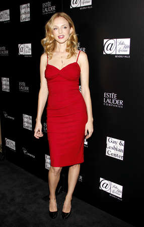 Heather Graham at the Los Angeles Gay And Lesbian Center Homeless Youth Services Benefit held at the Sunset Tower in West Hollywood on January 23, 2012. Редакционное