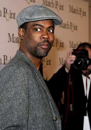"""Chris Rock at the Los Angeles Premiere of """"Match Point"""" held at the LACMA in Los Angeles, USA on December 8, 2005. Editorial"""