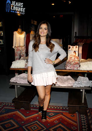hale: Lucy Hale appears at The Hollister store at the Westfield mall to launch her first collection held at the Hollister in Los Angeles, USA on August 9, 2014. Editorial