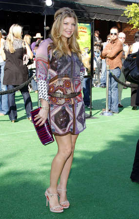 WESTWOOD, CA - OCTOBER 26, 2008: Fergie at the Los Angeles premiere of 'Madagascar: Escape 2 Africa' held at the Mann Village Theater in Westwood, USA on October 26, 2008.