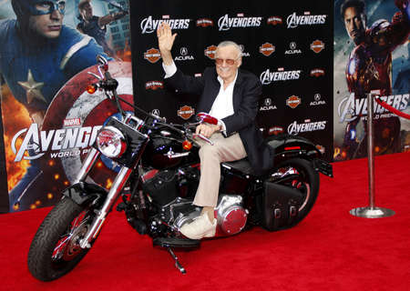 Stan Lee at the Los Angeles premiere of Marvels The Avengers held at the El Capitan Theater in Los Angeles on April 11, 2012. Editorial