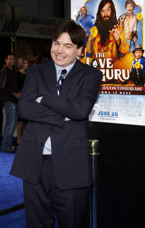 myers: Mike Myers at the Los Angeles premiere of Love Guru held at the Graumans Chinese Theater in Hollywood on June 11, 2008. Editorial