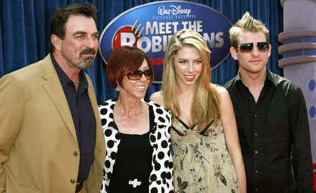 mack: Tom Selleck, Jillie Mack, Hannah Selleck and guest attend the World Premiere of Meet The Robinsons held at the El Capitan Theater in Hollywood, California on March 25, 2007. Editorial
