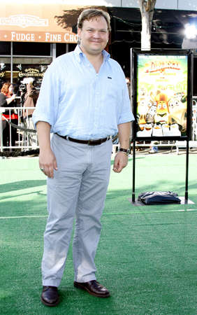 richter: WESTWOOD, CA - OCTOBER 26, 2008: Andy Richter at the Los Angeles premiere of Madagascar: Escape 2 Africa held at the Mann Village Theater in Westwood, USA on October 26, 2008. Editorial