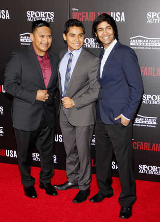 martinez: Ramiro Rodriguez, Rafael Martinez and Michael Aguero at the Los Angeles premiere of McFarland, USA held at the El Capitan Theater in Hollywood on February 9, 2015.