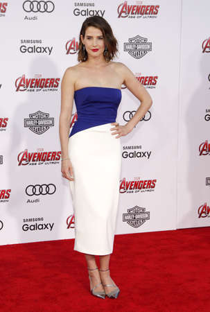 dolby: Cobie Smulders at the World premiere of Marvels Avengers: Age Of Ultron held at the Dolby Theater in Hollywood, USA on April 13, 2015.
