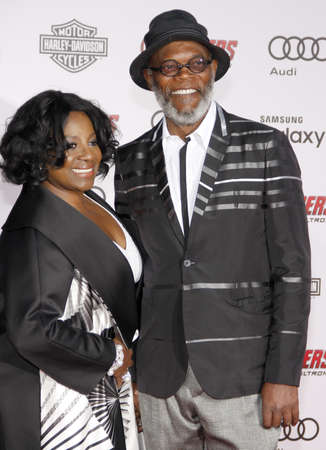 samuel: Samuel L. Jackson and LaTanya Richardson at the World premiere of Marvels Avengers: Age Of Ultron held at the Dolby Theater in Hollywood, USA on April 13, 2015.