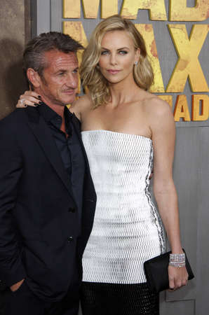 sean: Charlize Theron and Sean Penn at the Los Angeles premiere of Mad Max: Fury Road held at the TCL Chinese Theater IMAX in Hollywood, USA on May 7, 2015.
