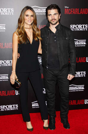 martinez: Juanes and Karen Martinez at the Los Angeles premiere of McFarland, USA held at the El Capitan Theater in Hollywood on February 9, 2015.