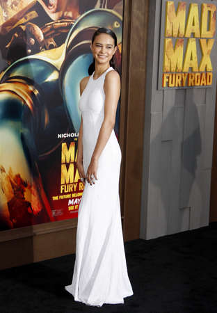 premieres: Courtney Eaton at the Los Angeles premiere of Mad Max: Fury Road held at the TCL Chinese Theater IMAX in Hollywood, USA on May 7, 2015.