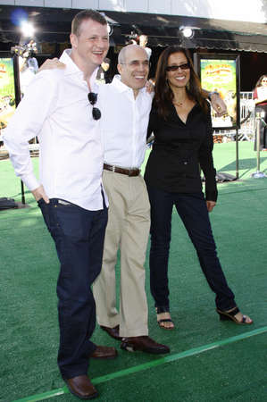 jeffrey: WESTWOOD, CA - OCTOBER 26, 2008: Mark Swift, Jeffrey Katzenberg and Mireille Soria at the Los Angeles premiere of Madagascar: Escape 2 Africa held at the Mann Village Theater in Westwood, USA on October 26, 2008. Editorial
