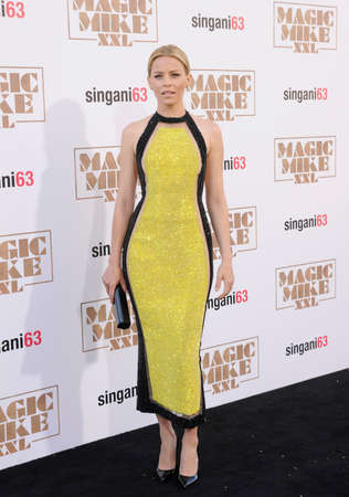 june 25: Elizabeth Banks at the World premiere of Magic Mike XXL held at the TCL Chinese Theatre in Hollywood, USA on June 25, 2015. Editorial